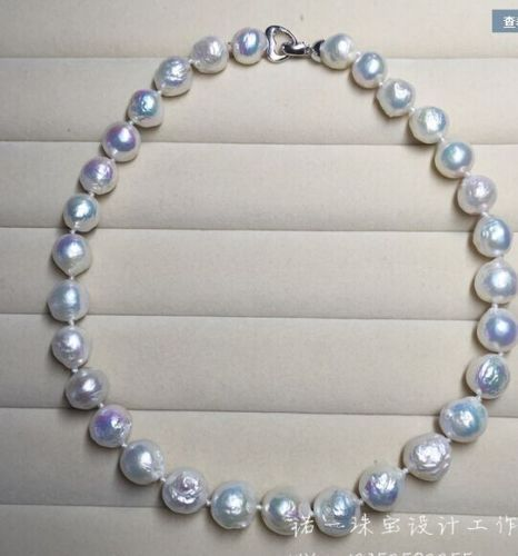 charm accessory choker shone> GORGEOUS 11-13MM SOUTH SEAS WHITE KASUMI PEARL NECKLACE 18""