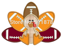 "7"" Large Turkey Football Player Thanksgiving Applique Embroideried Uniform Cartoon Costume Cosplay Embroidered iron on patch"
