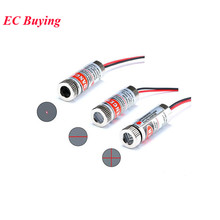 650nm 5mW Red Point Line Cross Laser Diode Focus Adjustable Laser Diode Head Metal Glass Lens Head Industrial Diameter 12MM 5V(China)
