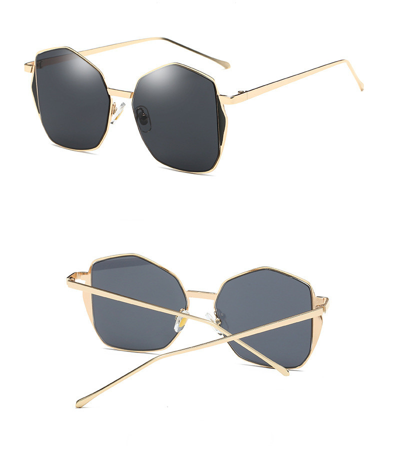 2017 New Ladies personality driving glasses retro polygon shading colorful Sunglasses