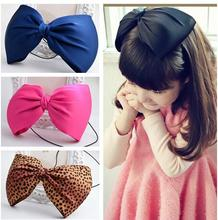 Big Bowknot Bow HeadBand Eastic Hair Head Band Girls Kids Children Hairwear New Party fashion Headband Hair