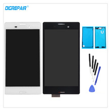 AAA Black/White For Sony Xperia M4 Aqua E2303 E2306 E2353 E2333 LCD Display Digitizer Touch Screen Assembly Parts+Tools+Adhesive(China)
