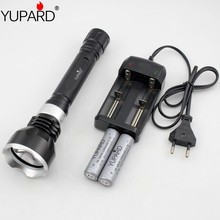 YUPARD CREE XM-L L2 LED T6 LED Waterproof underwater  Diving diver Flashlight white yellow light+2*18650 4200mAh Battery+Charger