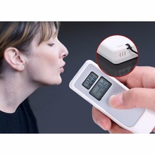 LCD Digital Breathalyzer Dual Display Alcohol Breath Tester Analyser with Clock Alcohol Tester Tools(China)