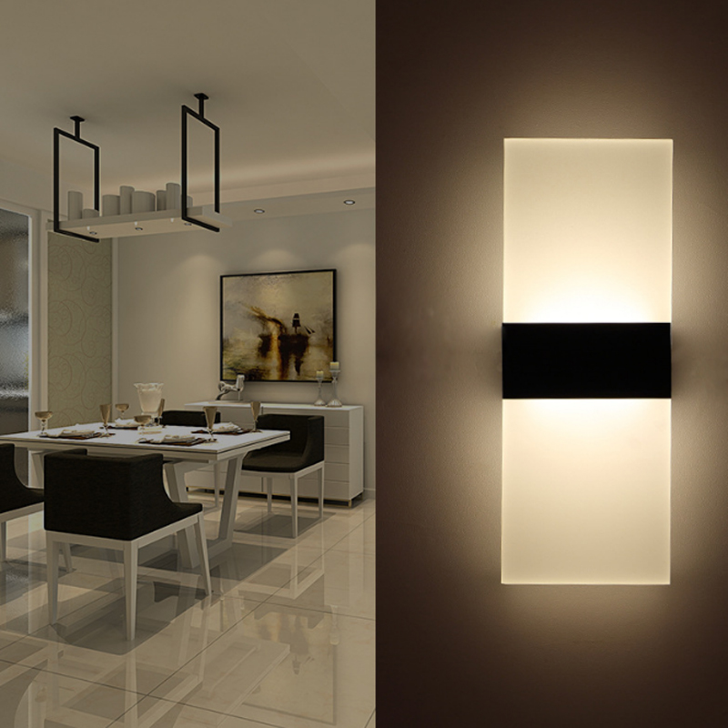 22W LED Modern Indoor Wall Lights Aisle Bedside Wall Lamp Sconce Night Lighting