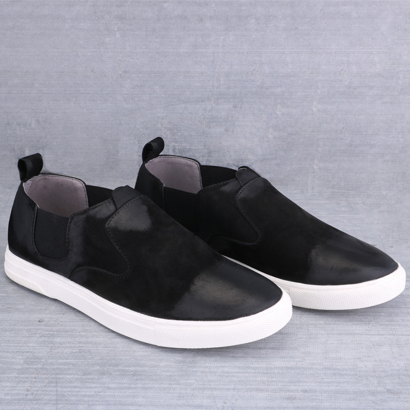 Mens Genuine Leather Breathable Casual Sneaker Slip on Shoes Retro Black Loafers High Quality 2016 Winter and Autumn Shoe<br><br>Aliexpress