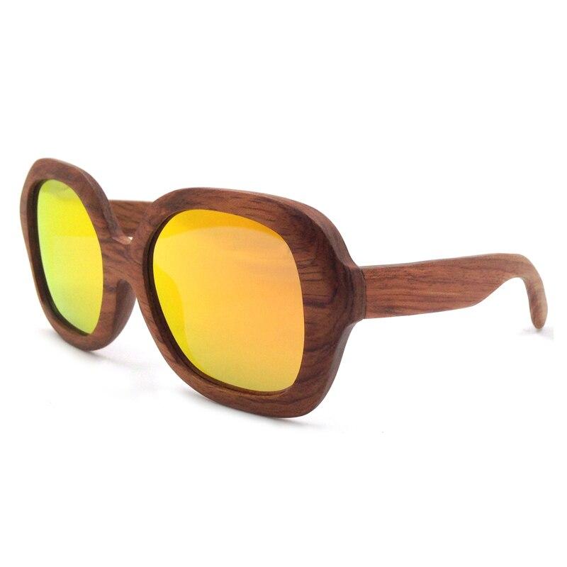 Laura Fairy Fashion Wood Sun Glasses for Men Orange Mirrored Polarized Lenses Goggles Sunglasses UV Protection Sunglass Brand<br><br>Aliexpress