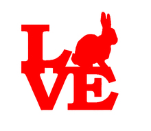 Wholesale 20pcs/lot Rabbit Love Vinyl Decal For Truck Bumper Car Sticker Cotton Tail Beagle Home decor Bunny Easter Breeding Box