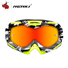 NENKI Motocross Goggles Motorcycle Racing Eyewear Skiing Snowboard Glasses Colorful Lens Unisex DH MTB Glasses Single Lens(China)