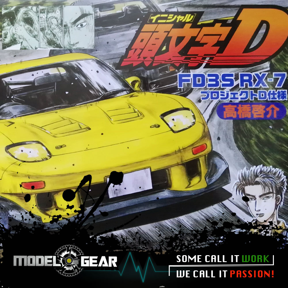 =NEW ARRIVAL= FUJIMI Model 1/24 Scale Initial D Takahashi Keisuke FD3S RX-7 Comics Ver. Assembly Kit Toy Car FU18359<br>
