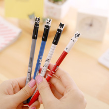 1 Pcs Cute Kawaii Korean Japanese Dog Animal Aihao 0.35mm Blue Black Ink Gel Pens Writing For School Office Supplies Stationery
