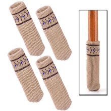 4 pcs New High Quality Knitting Wool Furniture Socks Chair Table Leg Protector Furniture Floor Protection Have 3 Colors Optional(China)