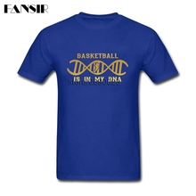 Fashion T Shirt Cool Short Sleeve O-neck Tees Shirt Mens Basketballs Is In My DNA Clothing(China)