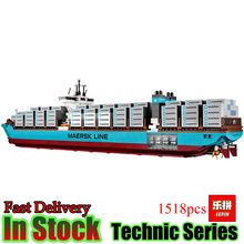 Lepin 22002 Technic 1518Pcs The Maersk Cargo Container Ship Compatible10241 Set Model Building Blocks Bricks Toys Gift