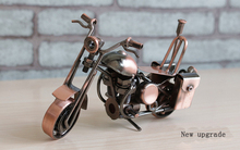 Hand Made Classic Motorcycle Metal Crafts Christmas Best Souvnirs Decoration Crafts for Home Decor and Collection