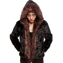 2017 Winter Men Hooded Faux Mink Fur Coats Male Casual Imitation Fox Fur Collar Jackets Outerwear Plus Size 3XL 4XL 5XL W1105