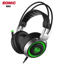 Somic G951 Over Ea USB Gaming Headphone With Microphone Mic Led Light Surround Stereo Pro Gaming Headset For PC Gamer Computer