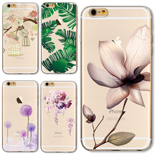 6/6S Soft TPU Case Cover For Apple iPhone 6 6S Cases Phone Shell Fashion Flower Adorkable Birds Pineapple Pattern Top Popular(China)