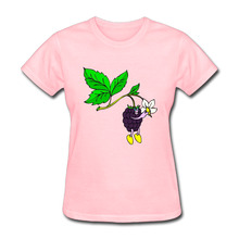 Gildan Berries And Leaf Funny T Shirts Women Short Sleeve Cotton Euro Size Woman t-shirt Camisetas Casual Female Tees Tops(China)
