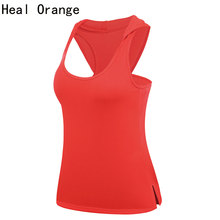 HEAL ORANGE Yoga Tops Dry Fit Shirt Women Sport Shirt Women Breathable Running Shirt Hooded Sport Shirt Gym Clothes T-Shirts(China)