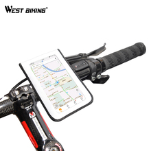WEST BIKING Cycling Phone Stand Bag 5.8/6.2 inches Bracket Cover Protective Bike TPU Touch Screen Handlebar Holder Bag