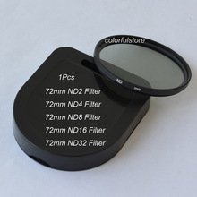 72 72mm ND Filter Neutral Density ND2 ND4 ND8 ND16 ND32 For Nikon D60 D70 D70S D80 D90 D600 D610 D700 D700S D750 D800 D800E Lens