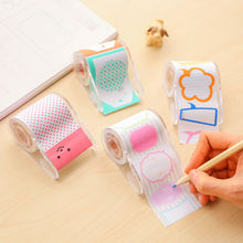 Colorful Notes Sticker Cartoon Memo Flags Stick Markers Tape DIY Decorative Tape Color Paper Adhesive Tapes with Tape Dispenser(China)