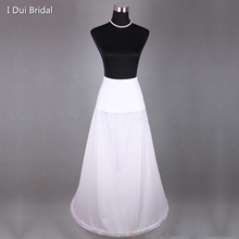 A line One circle hoop Petticoat Underskirt Wedding Dress Slip Spandex Stretch Waist(China)