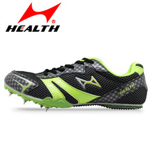 HEALTH student athletic runing sport shoes professional slip-resistant long sprint spikes female running nail for men spike