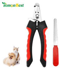 LemonBest Pet Nail Clipper Trimmer Ergonomic with Guard and Nail File for Large Medium Dog Pets Animal Nail Scissor Nail Cutter(China)