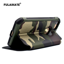 FULAIKATE Army Green Camouflage Holster for iPhone5 5s SE Anti-Knock Back Cover for Apple iPhone SE Flip Case Phone Cases(China)