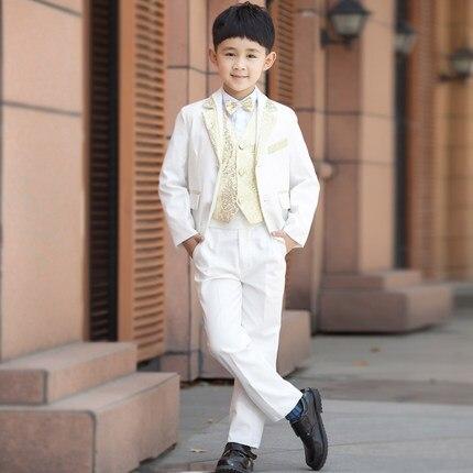 5Pcs (Jacket+Pants+Waistcoat+Blouse+Cravat) Single Breasted Masculino Suits Brand Fashion Dress Suits ashion suits evening dress<br>