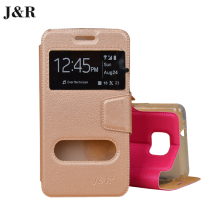 Cover Case For Samsung Galaxy S2 SII i9100 9100 Fundas View Window Filp Coque PU Leather Capas J&R Brand Stand Phone Bag 5 Color