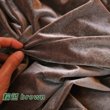 Brown Silk Velvet Fabric  Velour Fabric  Pleuche Fabric  Clothing Fabric  Evening Wear  Sports wear  Sold By The Yard