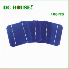 100pcs 5x5 A Grade 2.7W Monocrystalline 125*125mm for DIY Solar Panel Solar System Solar Generators