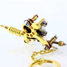 1 piece Mini Tattoo Machine Gun Pendant Mixed Styles Pendant Necklace for tattoo artists Key chain Keyring Creative Gift Jewelry(China)