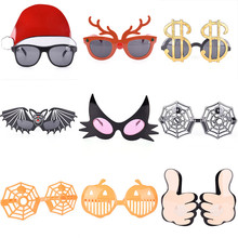 1Pcs Funny Pumpkin Crazy Dress Glasses Costume Party Halloween Costume Party Eyewear Party Glasses Novelty Gifts(China)
