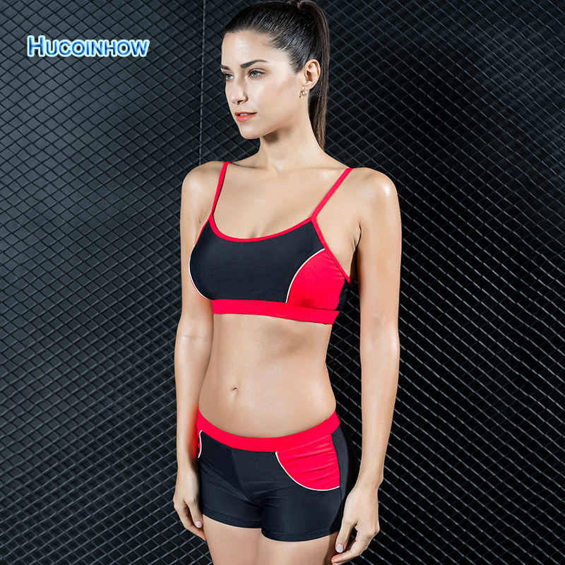 HUCOINHOW Brand 2017 Push Up Bikini Low Waist Swimsuit Swimwear Women Spa Swimming Suit Athlete Professional Swimsuit<br>