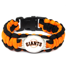 Black And Orange San Francisco Giants Paracord Bracelet MLB Baseball Charm Bracelet Outdoors Survival Bracelet For Women Men