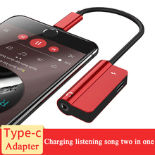 USB Type C 3.5mm Earphone Adapter Charger USB-C Audio Cable Aux 3.5 Jack Headphone Adapter Xiaomi Mi6 Mi8 MIX2 Mi 8 6