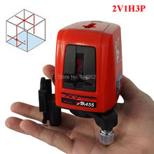 360 degree Rotating Cross Laser Level 2V1H3P 3 line 3 point Self- leveling laser level meter can work outdoor Laser Level Tools(China)