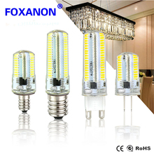 10Pcs Led Silicon Lights Dimmable Lamp Bulbs 64Led 152Led G9 G4 E17 E14 E11 E12 G8 Bulb AC220V 110V 3014SMD Home Decorated Light(China)