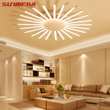 Modern Brief Living Room Lights LED Flower Ceiling lamp lamparas de techo Bedroom creative Acrylic Ceiling Lighting(China)
