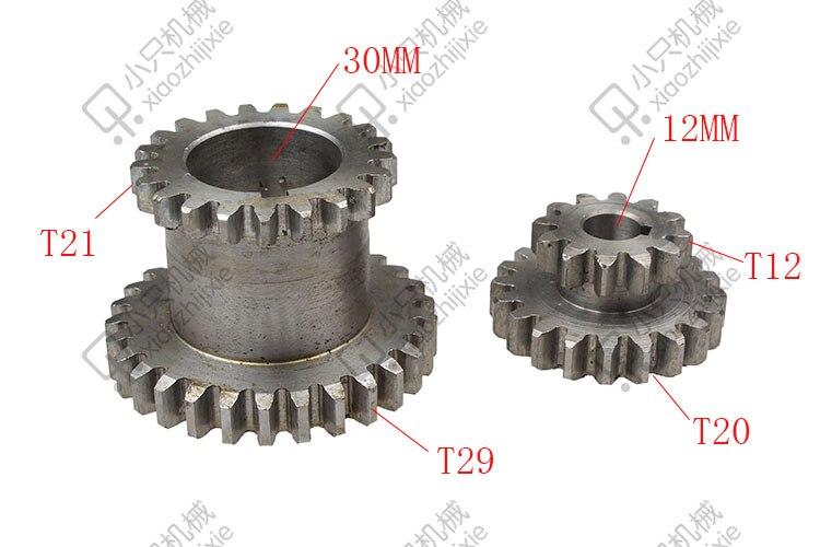 free shipping 2 pcs / set Teeth T29xT21 T20xT12 Dual Dears Metal Lathe Gears For Sale<br>