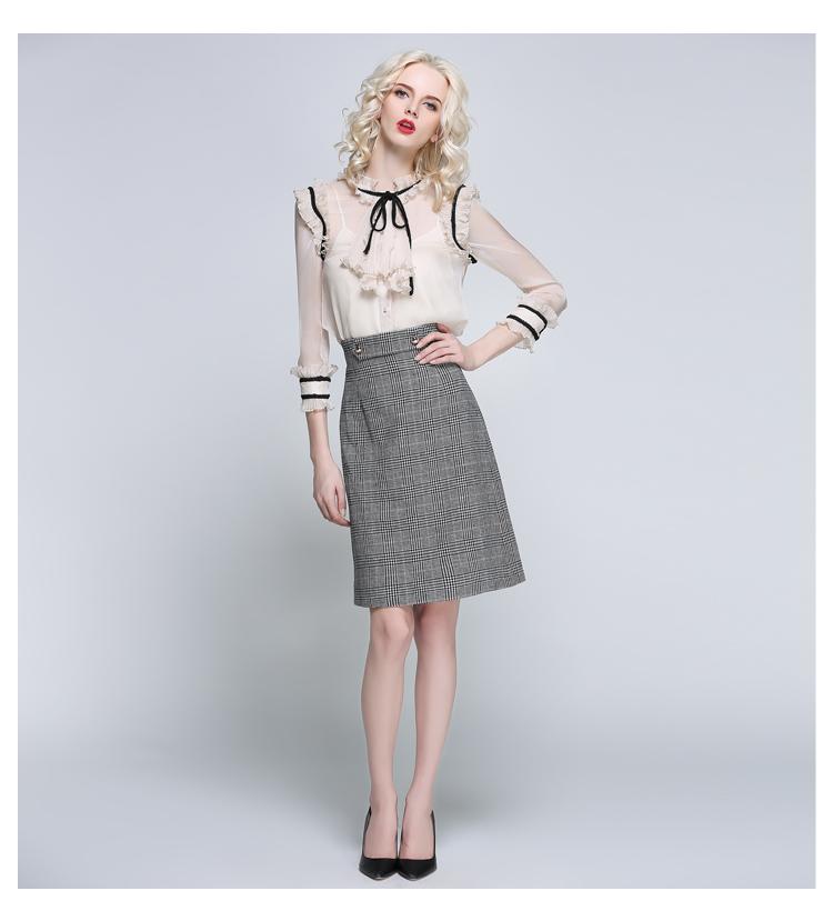 Women Houndstooth Skirt (13)