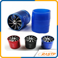 RASTP -  Turbo Air Intake Fan Supercharger Car Dual Double Side Fuel Gas Saver Propeller Turbonator Ventilator LS-TUR007