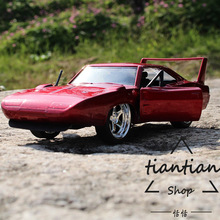 1:32 1970 Plymouth Tail Red Alloy Car Model Real Restore Favorites Decoration Children Toys Car(China)