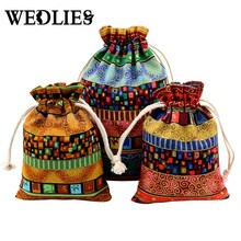 10Pcs Party Favor Gift Bags Cloth Linen Packaging Jewelry Bag Wedding Gift Pouch Drawstring Fabric Christmas Pouches 10*14cm