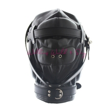 Buy Adult Sex Toys Couples Pu Leather Mask Hood Two Breathing Hole Sex Slave Mask Bondage Restraint Adult Game Erotics Toys