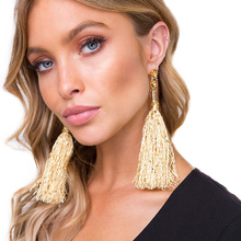 Vodeshanliwen New Fashion Jewelry Tassel Long Earrings For Women Wedding Accessories Hot Bohemian Fringed Drop Dangle Earrings()